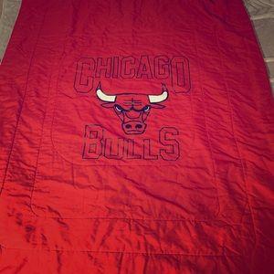 Old School Chicago Bulls Blanket